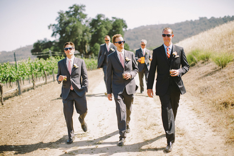Paso Robles Ranch & Vineyard,  groomsmen walking