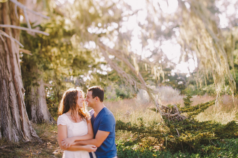 Montana De Oro, couple hugging in the forest