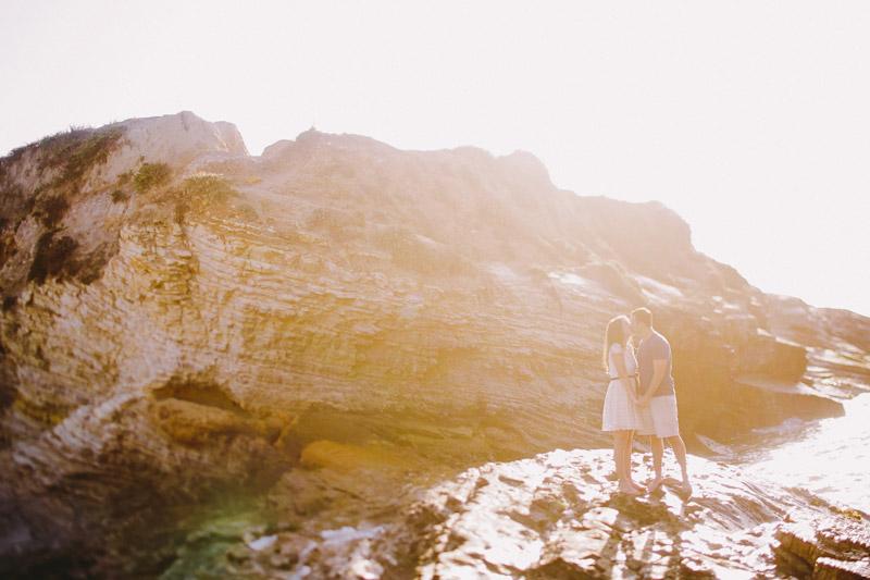 Montana De Oro, couple kissing on a rock