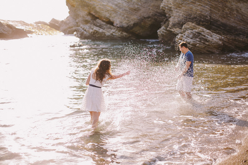 Montana De Oro, couple playing in the water