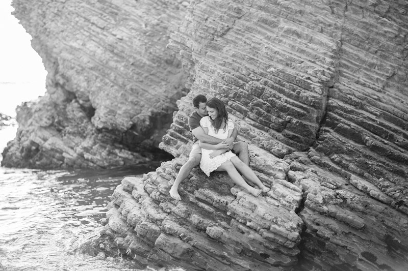 Montana De Oro, couple sitting on rock (2 of 2)
