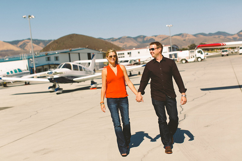 San Luis Obispo / Santa Margarita Ranch, couple walking around airport