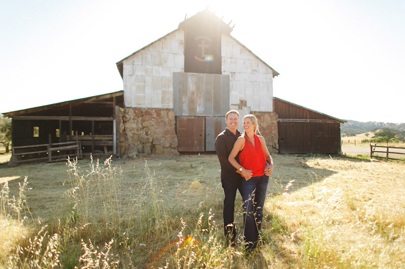 San Luis Obispo / Santa Margarita Ranch, couple in front of barn