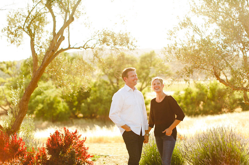San Luis Obispo / Santa Margarita Ranch, couple holding hands in front of tree