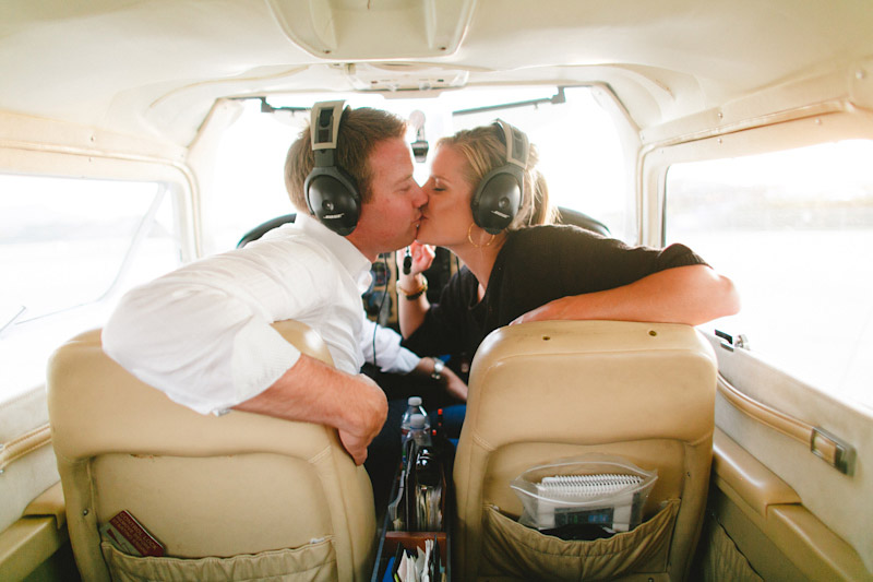 San Luis Obispo / Santa Margarita Ranch, couple kissing in plane