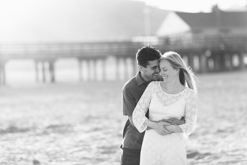 Avila Beach, couple hugging on beach