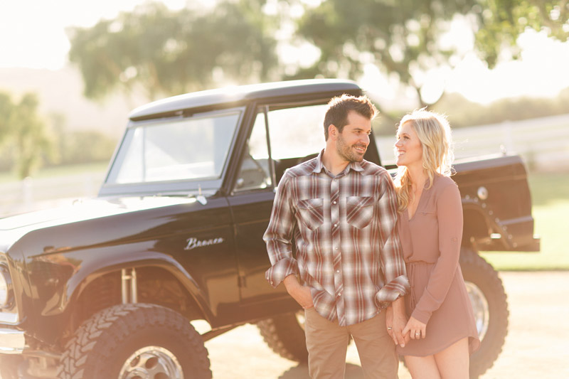 Greengate Ranch, San Luis Obispo, couple in front of vintage bronco.