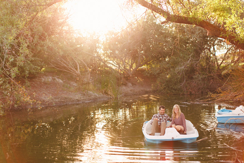 Greengate Ranch, San Luis Obispo, couple on romantic paddle boat ride (1of 2)