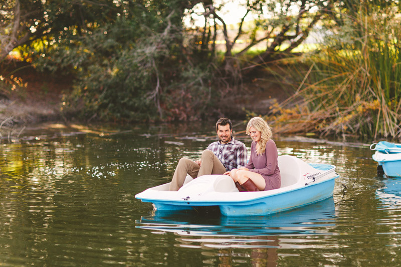 Greengate Ranch, San Luis Obispo, couple on romantic paddle boat ride (2 of 2)