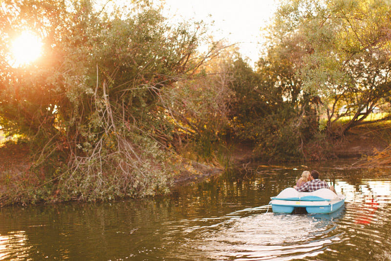 Greengate Ranch, San Luis Obispo, couple kissing on romantic paddle boat ride