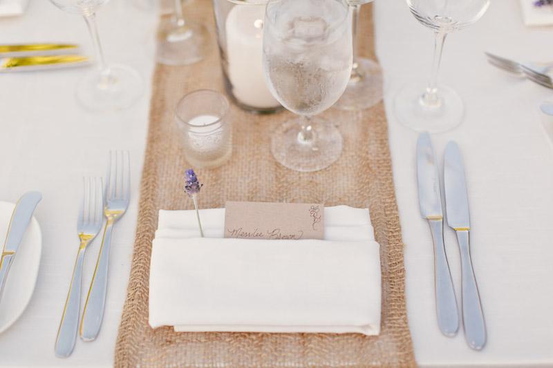 Carmel wedding, Carmel Valley Ranch, table details at reception. (2 of 3)