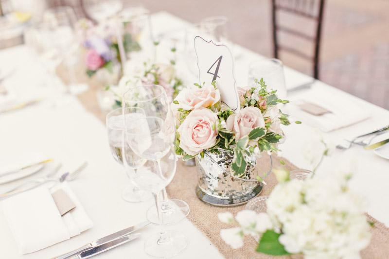 Carmel wedding, Carmel Valley Ranch, table details at reception. (3 of 3)