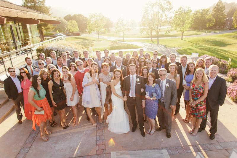 Carmel wedding, Carmel Valley Ranch, group shot near golf course.