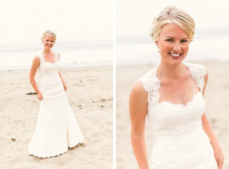 Cayucos, bride at the beach