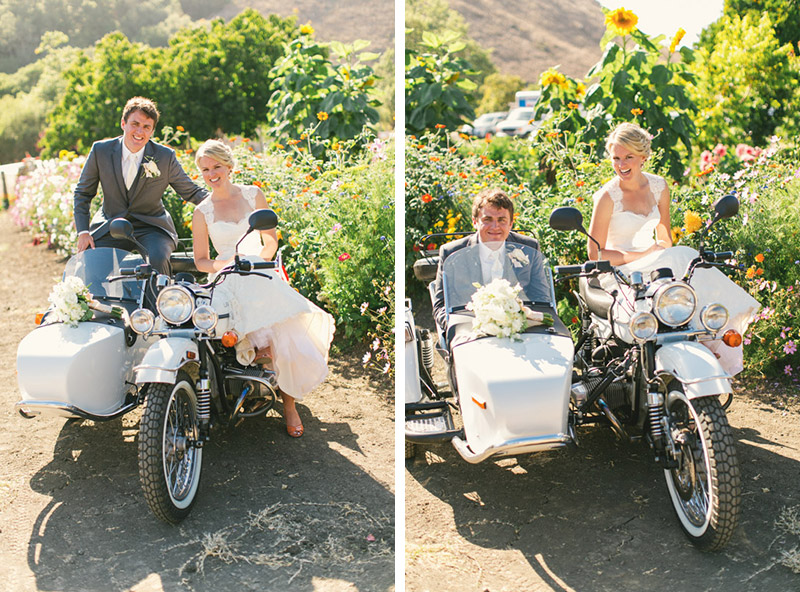 Cayucos Creek Barn, motorcycle and sidecar