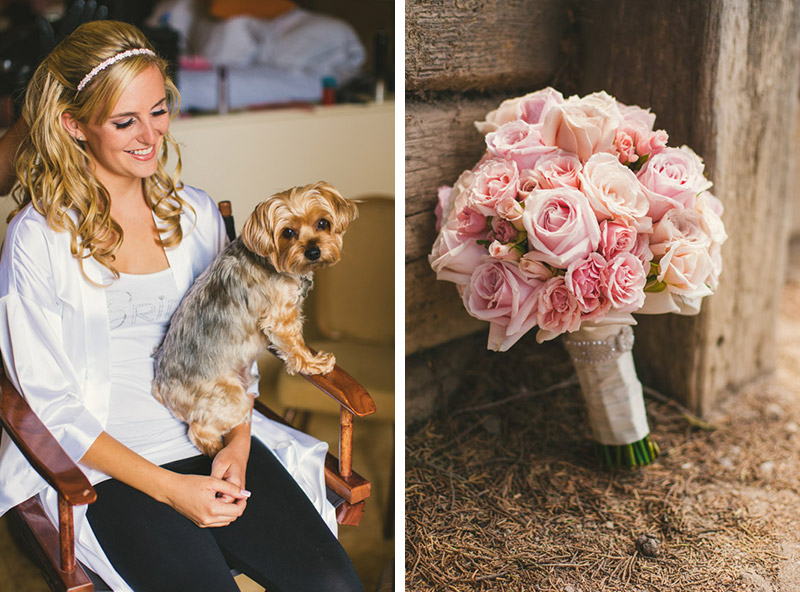 The Cliffs Resort, The bride and her dog // bouquet