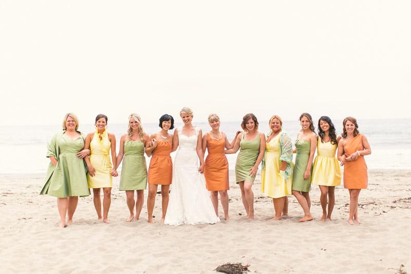 Cayucos, A bride and her bridesmaids