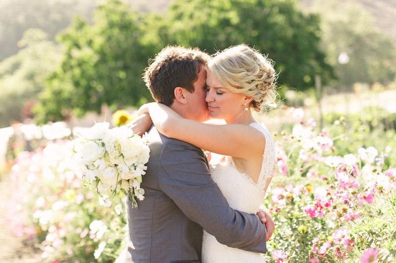 Cayucos Creek Barn, hugging in flower field