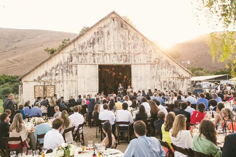 Cayucos Creek Barn, Sun setting behind barn