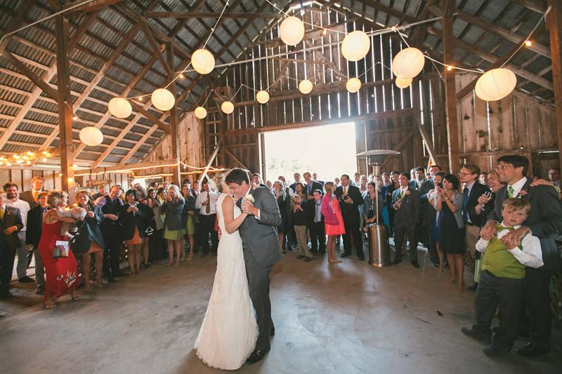 Cayucos Creek Barn, First dance (1 of 3)