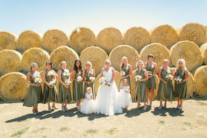 Morro Bay, hay bales and bridal party 2