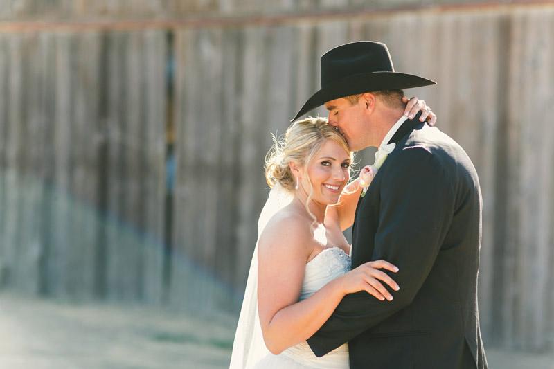 Morro Bay, barn and bride and groom