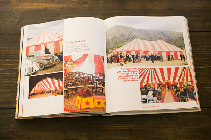 Just Married by Fiona Leahy, Vintage Circus Wedding showing tent from Water for Elephants Movie.