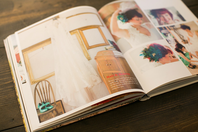 Just Married by Fiona Leahy, Vintage Circus Wedding spread of bride getting ready.