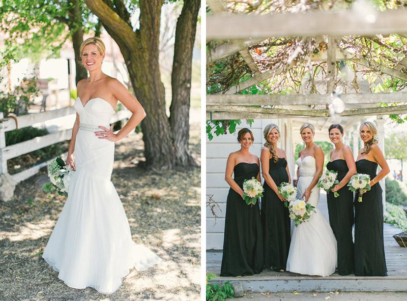 Santa Margarita Ranch, the bride and all of her bridesmaids