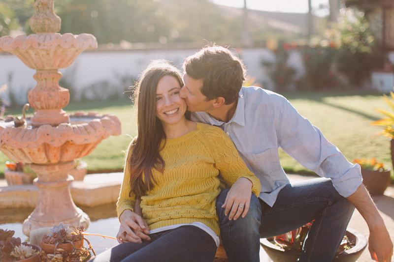 La Familia Ranch, San Luis Obispo, kissing her cheek