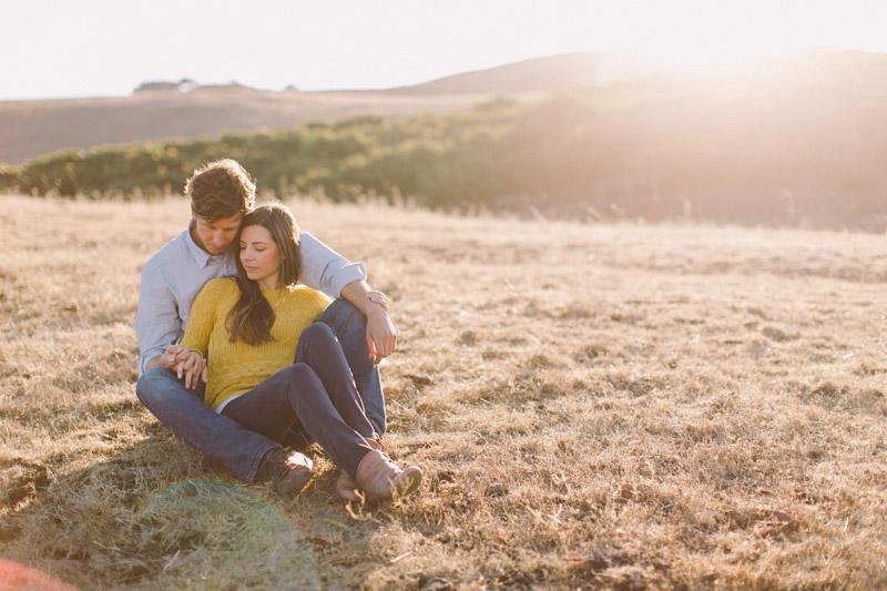 La Familia Ranch, San Luis Obispo,  snuggling in a field