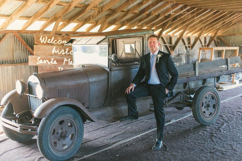 Santa Margarita Ranch, the groom with an old car