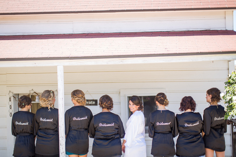 Santa Margarita Ranch Bridesmaid matching robes