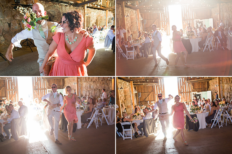 Santa Margarita Ranch bridal party entry into reception