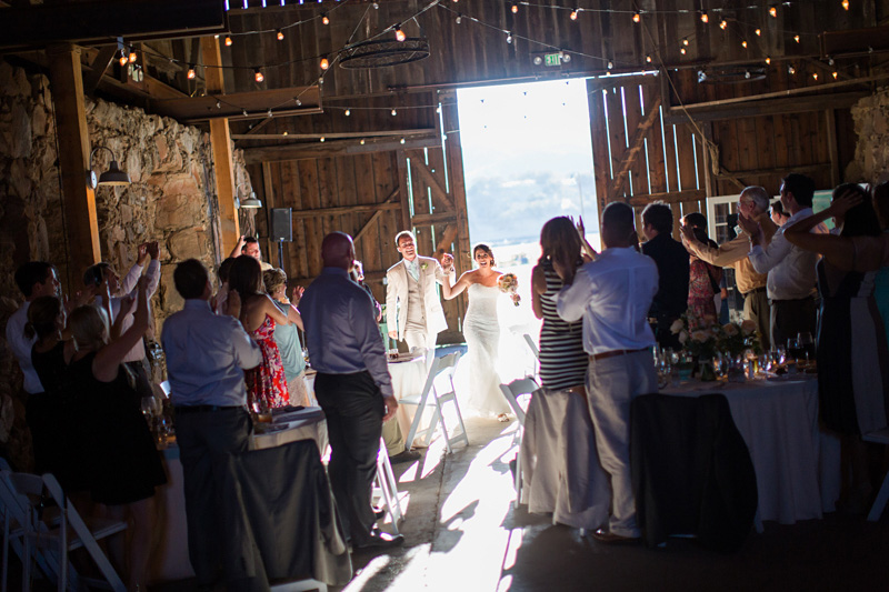 Santa Margarita Ranch Bride and Groom entrance into reception