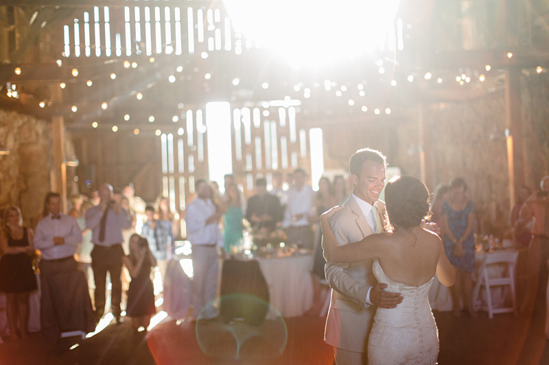 Santa Margarita Ranch Bride and Groom first dance (1 of 2)