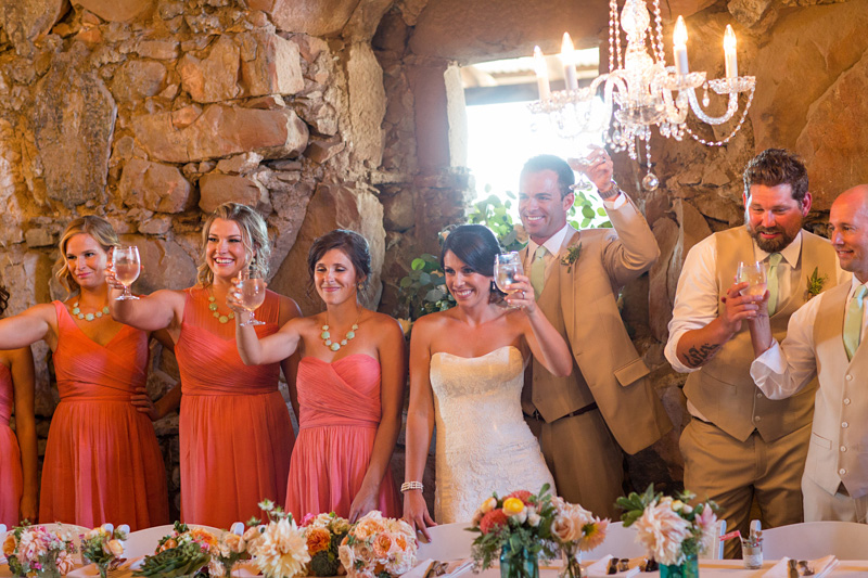 Santa Margarita Ranch Bridal party toast
