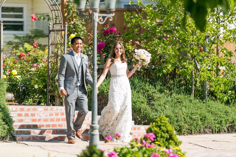 Peacock Farms Wedding Bride and Groom entrance into the reception