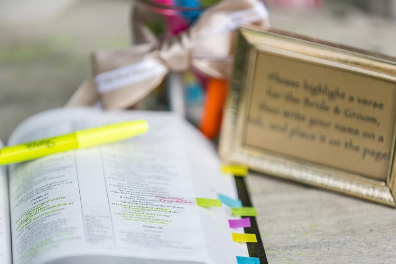 Peacock Farms Wedding highlighted bible verses