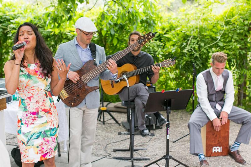 Peacock Farms Wedding band playing music
