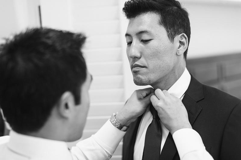 Bernardus Winery Wedding Groom getting ready with groomsmen (3 of 4)