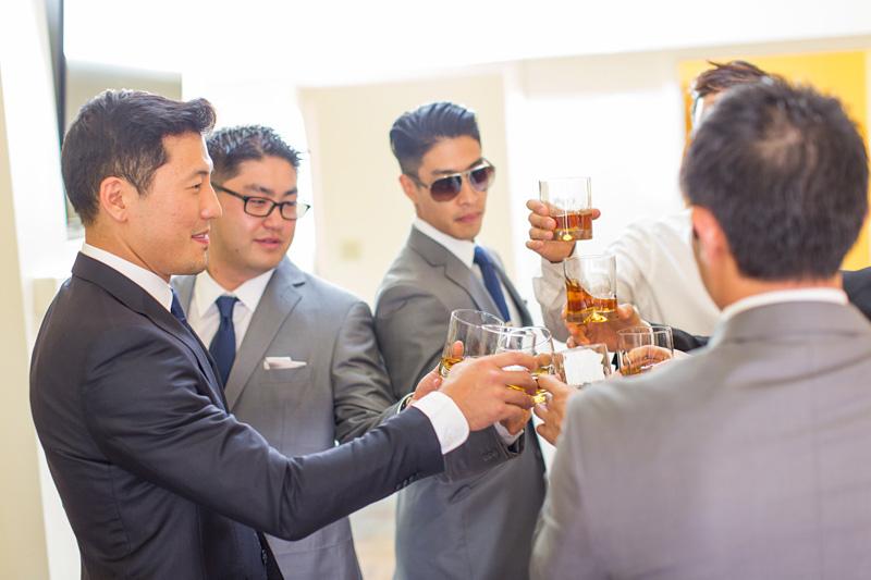 Bernardus Winery Wedding Groom getting ready with groomsmen (4 of 4)