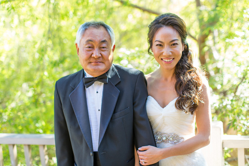 Bernardus Winery Wedding Bride and Father