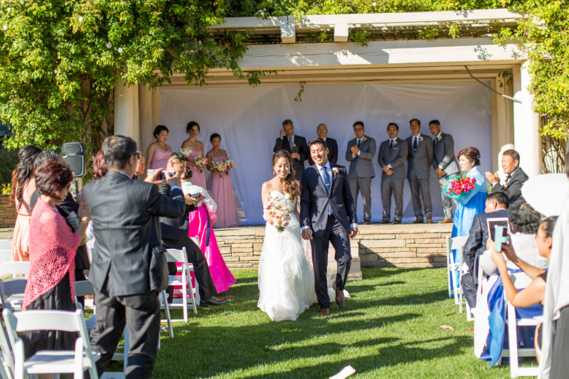 Bernardus Winery Wedding leaving the ceremony