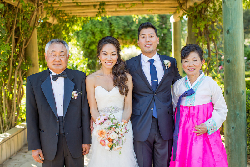 Bernardus Winery Wedding photo with the Bride's parents
