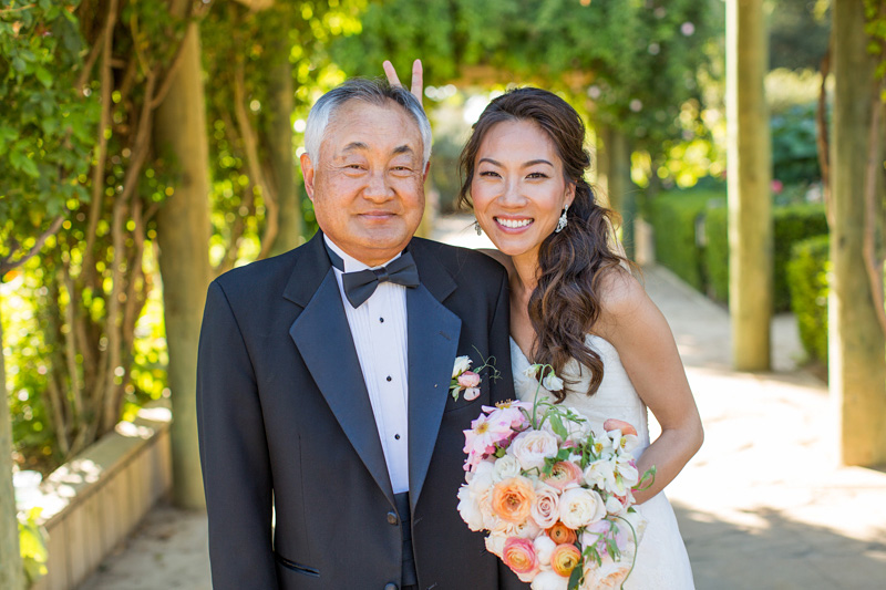 Bernardus Winery Wedding Bride with her Father
