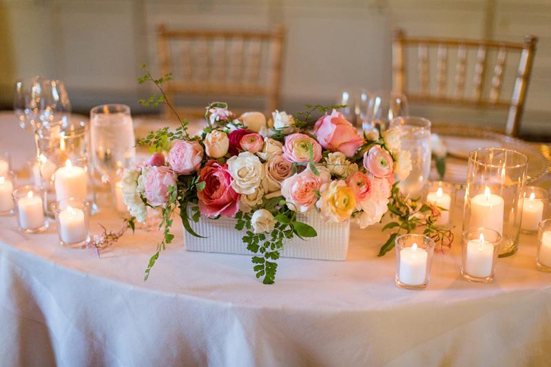 Bernardus Winery Wedding table display
