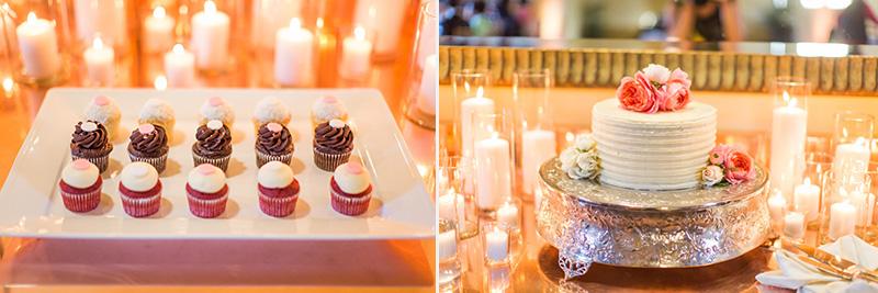 Bernardus Winery Wedding cake and cupcakes