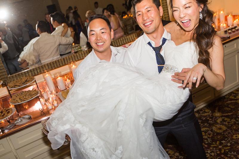 Bernardus Winery Wedding Bride and Groom together on the dance floor
