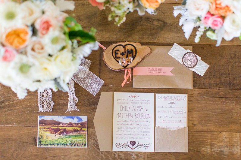 Greengate Ranch Wedding flowers and invitations